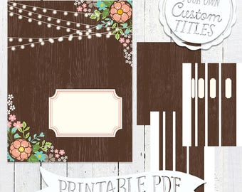 Romantic Woods - Printable Binder Cover & Insert - 8.5x11 - PDF - Instant Download