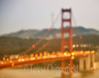 Golden Gate Bridge Photo, San Francisco Print, Bay Area Print, California Sunset, Travel Photo, Bridge Wall Art, Red Paint Historic Landmark