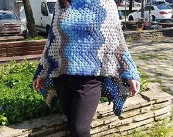 Poncho. woman Poncho crochet Hand made.Beautiful hand crocheted poncho