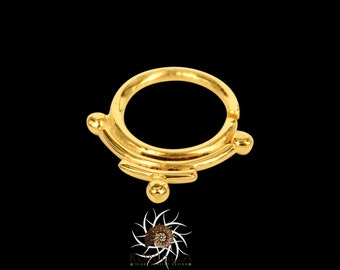 Arya Gold Septum Ring - Septum Jewelry - Septum Piercing - 18G Septum Ring - 16G Septum Ring - Indian Septum Ring - Tribal Septum Ring (G9)