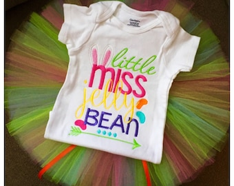 Little Miss Jelly Bean, easter tutu outfit