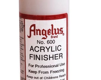 Angelus Acrylic Leather Finisher—4 OZ. Size-Use on Leather Cuffs and Leather Crafts-Metal Supply Chick