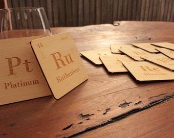 Precious Metals Periodic Table  Drinks Coasters Set of 8