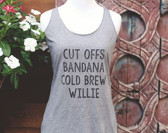 The Willie Racerback Tank Top - Womens