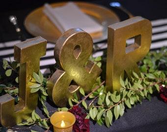 Gold Letters; metal lettters; metal alphabet; industrial letters; rustic metal letters; personalized letters; rustic letters; wall letters