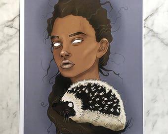 Hedgehog - A4 Print