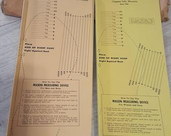 Vintage Mason Shoe Co. Saalesman Mesuring tools