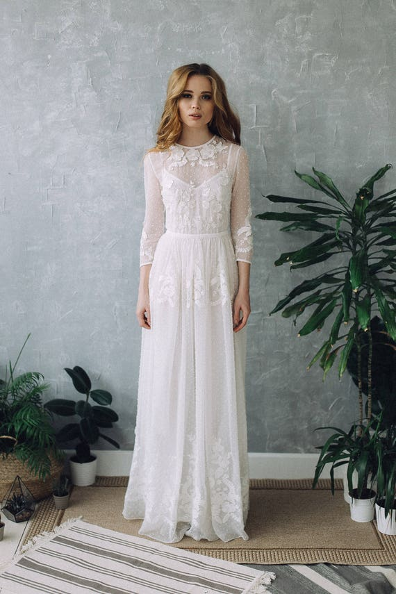 Dress ss17 wedding dress boho wedding dress romantic wedding junglespirit Gallery
