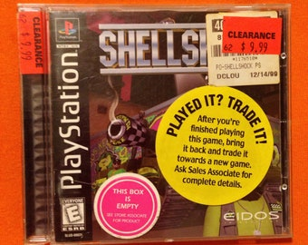 Authentic Complete Shellshock Playstation 1 Video Game!