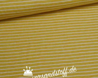 """Organic jacquard double stripe pale yellow """"tender Kiss"""""""
