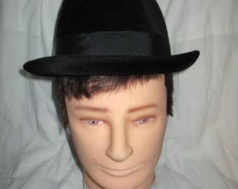 BORSALINO Triple XXX Ambassador Black Felt Fedora  Antica Casa 1857 A.A.P.  Mens Vintage Hat