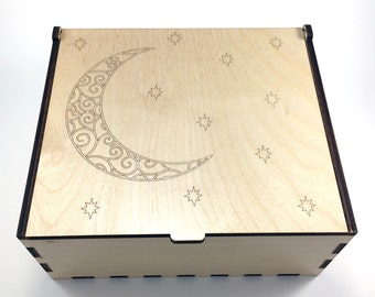 Crescent Moon Essential Oil Box 42 Slots Aromatherapy Storage Box Moon and Stars Essential Oil Case Aromatherapy Oil Organizer & Dragonfly Essential Oil Storage Box 42 Slots 15ml Bottle
