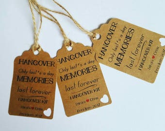 Hangover Kit | Hen Party | Stag Do | Luggage tag | Bachelorette Party | Wedding Hen Party | Wedding Stag Do | Bachelor Party