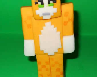 Stampy Cat Cake Topper inspired by Minecraft