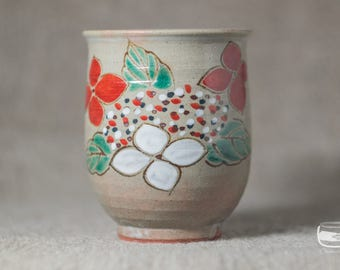 One Yunomi tea cup for Japanese tea - handmade *0619