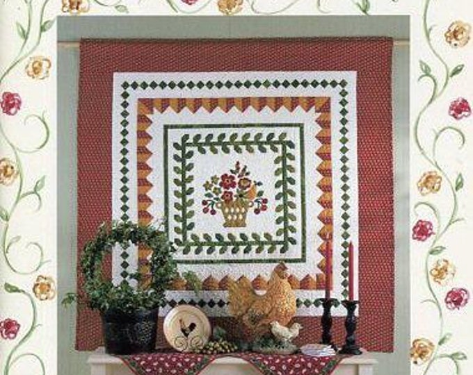 Free Us Ship Cabbage Rose Quilt Book PB Paperback Great Condition Meadow Rose Barbara Brandeburg 2001 40 color pages Old Store Stock