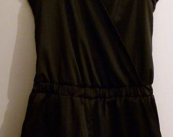 Cotton satin and lace back Playsuit size M