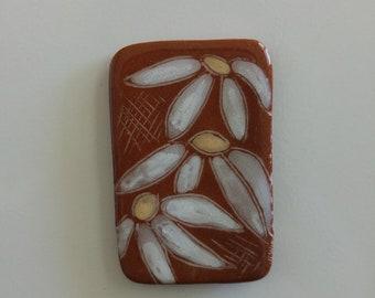 Handmade flower fridge magnet