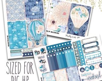 Hot Air Balloon Ride BIG Happy Planner Planner Stickers - Weekly Planner Sticker Set - Functional stickers - Hot Air Balloon Stickers