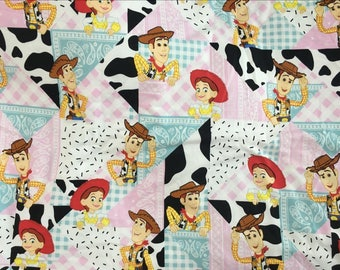 Pretty toy story Jessie Woody pattern soft Terry DIY cloth Fabric 50*160 cm cotton knit