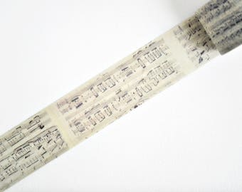 Vintage Music Sheet Washi Tape, Masking Tape - WT427