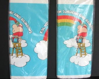 1980s Ziggy Tablecloth American Greetings Rainbows NOS Paper Party