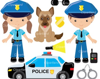 INSTANT Download.  Police clip art. Cp_4. Personal and commercial use.