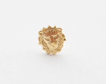 Leo Pin, Zodiac Pin, Tiny Lion Pin, Lion Tie Tack, Lion Pin, Lion Brooch, Lion Tie Clip, Lion Gifts for Men, Mens Lion Tie Pin Tack