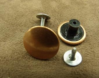 DENIM button - 17 mm - copper