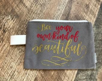 Make up bag, Bee beautiful