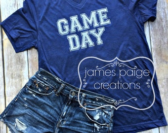 GAME DAY, School Spirit Football Mom Shirt, Baseball Mom Softball Mom Cheer Shirt, Baseball Shirt, Game Day Vibes Sports Mom Shirts