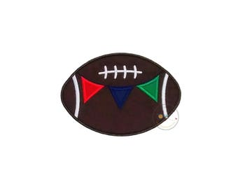 Football with team banner iron on applique