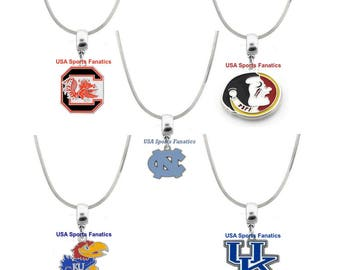 NCAA - Team Logo Necklace On A 925 Sterling Silver Snake Chain With Lobster Claw Clasp (Free Shipping)