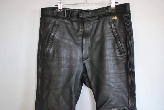 leather 011 men's PANTS Vintage pants moto BIKER LEATHER pants 1SqOI