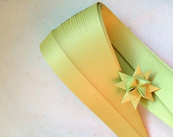 Pearl Chartreuse~ Weaving Star Paper (50 strips)