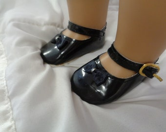 Black Patent Leather Shoes for 18 Inch Dolls- Fits  American Girl Dolls