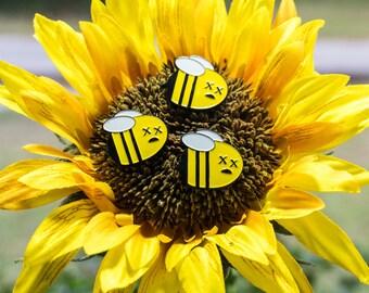 Dead Bee Enamel Pin