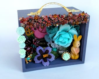 Ode to Spring - One of a Kind Mixed Media Cigar Box Assemblage