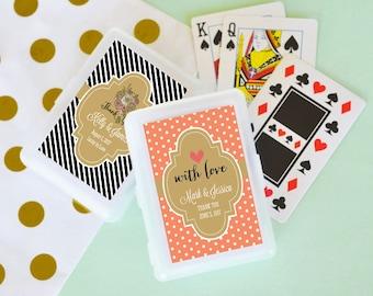 50 Decks Personalized Playing Cards - Personalized Wedding Favor - Bridal Shower Favor - Bachelorette Party Favor - Favor Gift - Keepsake