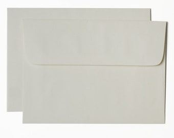 25 A7 Off White Envelopes - for 5x7 wedding invitation and formal announcement  Natural color