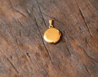 Petit gold filled locket — FREE SHIPPING