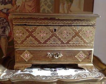 Japanese florentine jewelry box