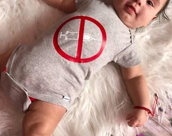 Glow in the Dark Anti-Vaccination Baby Bodysuit NB-6/9M