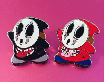 Shy Face Pins (No Face and Shy Guy Crossover)