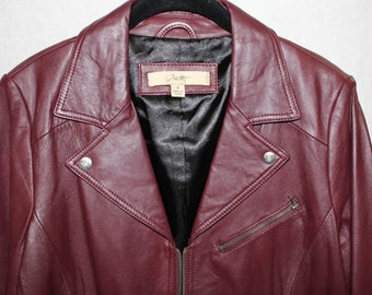 Late 70s Cordovan unisex Leather Jacket (AVAILABLE) vV04g