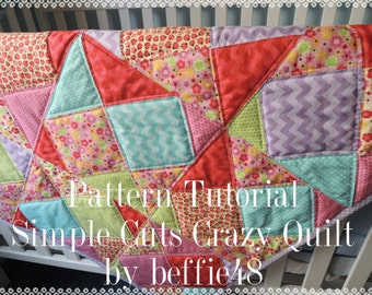 Simple Cuts Crazy Quilt Easy Pattern Tutorial, pdf