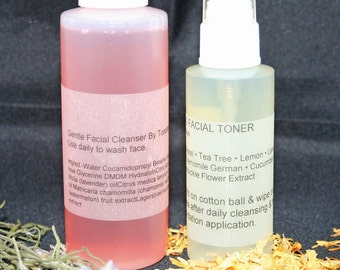 Face Wash Facial Clarifying Toner Set Facial Care Daily Use from Toadstool Soaps