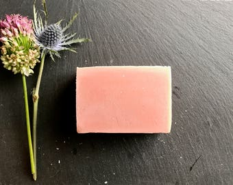 DETOXIFYING PINK CLAY >> /rose clay/cold process soap/natural/vegan/handmade/gentle/love spell type fragrance/minnesota made