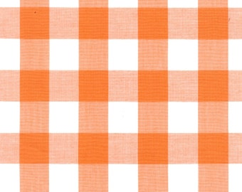 """Orange Gingham Check Fabric (1"""" check) 20 Yards By The Bolt (GC1009-C1)"""
