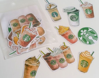 Watercolour Coffee Shop Sticker Pack